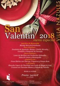 Menu San Valentín 2018