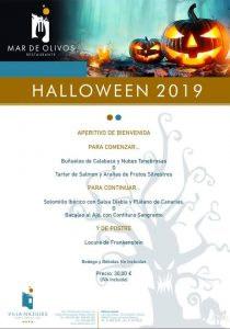 Menu Halloween Mar de Olivos 2019