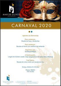 Menu Carnaval 2020